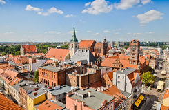 Medieval Torun old town. Poland Stock Photos