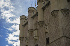 Medieval tower, alcazar castle city of Segovia, Spain. Old town Royalty Free Stock Images