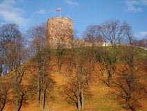 Medieval Tower in autumn Royalty Free Stock Images