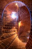Medieval tower called Karnan in Helsingborg, Swede. Medieval tower called Karnan in Sweden. Stairways to the top Stock Image