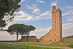 Medieval tower in Castiglion Fiorentino, Arezzo, Tuscany, Italy Royalty Free Stock Photography