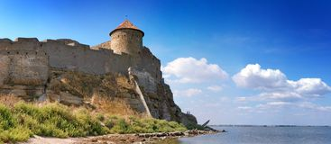 Medieval tower of citadel Belgorod Cetatea Alba Royalty Free Stock Photos