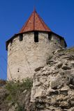 Medieval tower of citadel Bender Tighina Transdnie Royalty Free Stock Photo