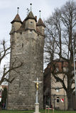 Medieval Tower of the City Wall Stock Photo