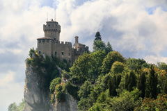 Medieval tower De La Fratta or Cesta in San Marino Stock Photo