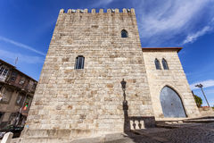 The Medieval Tower of the Dom Pedro Pitoes Street in the city of Porto, Portuga Stock Image