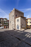 The Medieval Tower of the Dom Pedro Pitoes Street in the city of Porto, Portugal Royalty Free Stock Image