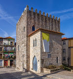 The Medieval Tower of the Dom Pedro Pitoes Street in the city of Porto, Portugal Stock Photos
