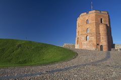 Medieval tower of Gediminas in Vilnius, Lithuania. Stock Photography