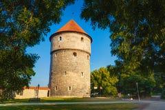 Medieval Tower Kiek-in-de-Kok In Park On Hill Stock Photos