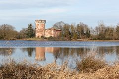 Medieval tower of Le Plantay in la Dombes region Stock Photo