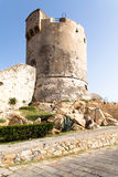 Medieval Tower In Marciana, Elba Island Stock Images