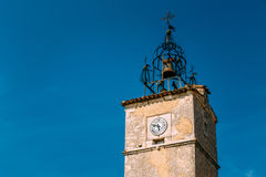 Medieval tower in Menerbes, France Stock Image