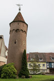 Medieval tower in Obernai, Alsace, France Royalty Free Stock Images
