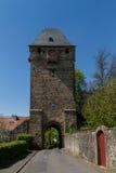 Medieval tower Obertor, Ortenberg Stock Photos