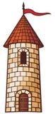 Medieval tower. Old castle, old castle illustration Stock Photo