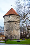 Medieval tower in old Tallinn city Royalty Free Stock Images