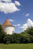 Medieval tower. Part of the Banffy Castle in Bontida, Romania Stock Photos
