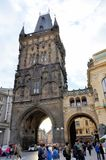 Medieval tower in Prague Royalty Free Stock Photos