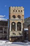 Medieval tower in Rila Monastery Royalty Free Stock Images