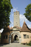 Medieval tower in rothenburg, Germany. Royalty Free Stock Image