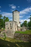 Medieval tower. Ruins of a fortress in Paide town, central Estonia royalty free stock photos