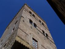 A medieval tower in San Gimignano Stock Photos