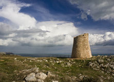 Medieval tower at Santa Cesarea Terme royalty free stock images