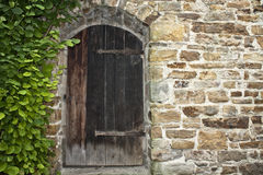 Medieval tower secret entrance Stock Photos