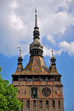 Medieval tower in Sighisoara town Stock Images