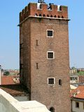 Medieval tower in Vicenza, Italy. (Torre del Girone Stock Photography