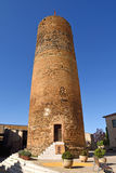 Medieval tower of village of Cruilles, Baix Emporda, Giroan prov. Ince,Catalonia, Spain Stock Photos