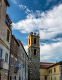 Medieval tower in the village of Manciano Royalty Free Stock Photos