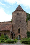Medieval tower and wall Stock Photography
