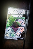 Medieval tower window Royalty Free Stock Images