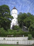 Medieval tower in the woods. Medieval tower located in a woded area Stock Images
