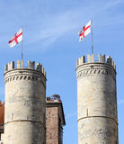 Medieval towers Stock Image