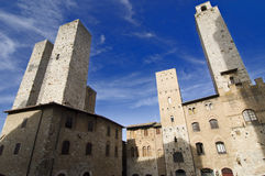 Medieval Towers. In San Gimignano, Tuscany, Italy Stock Photography