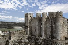 Medieval towers of castle royalty free stock photography