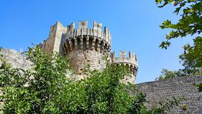 Rhodes castle bastion. A medieval towers of the Castle of Rhodes bastions stock photo