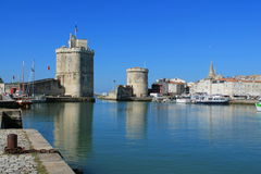 Medieval towers of La Rochelle, France Stock Photography