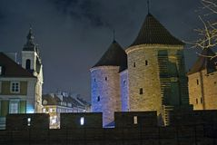 Old Town fortifications - Warsaw, Poland. Royalty Free Stock Photo