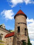 Medieval towers - part of the city wall. Tallinn Royalty Free Stock Photo