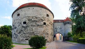Medieval towers - part of the city wall. Tallinn Royalty Free Stock Images