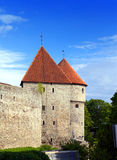 Medieval towers - part of city wall. Tallinn, Estonia Stock Image