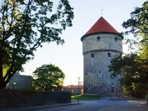 Medieval towers - part of the city wall. Tallinn Stock Images