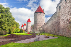 Medieval towers - part of the city wall. Tallinn, Estonia Stock Photography