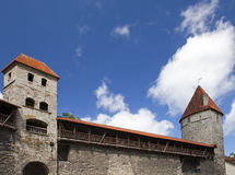 Medieval towers - part of the city wall. Tallinn, Estonia Stock Images
