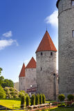 Medieval towers - part of the city wall. Tallinn, Estonia Stock Photos