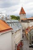 Medieval towers - part of the city wall. Tallinn, Estonia Stock Photos